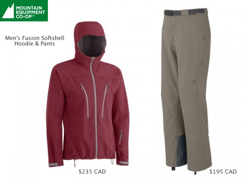 MEC Fusion Men's Softshell Jacket and Pants Review