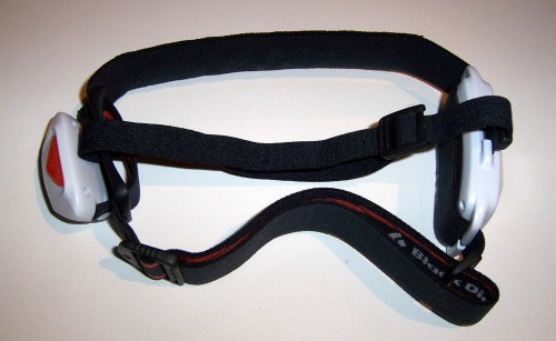 Optional top strap attached for improved stability