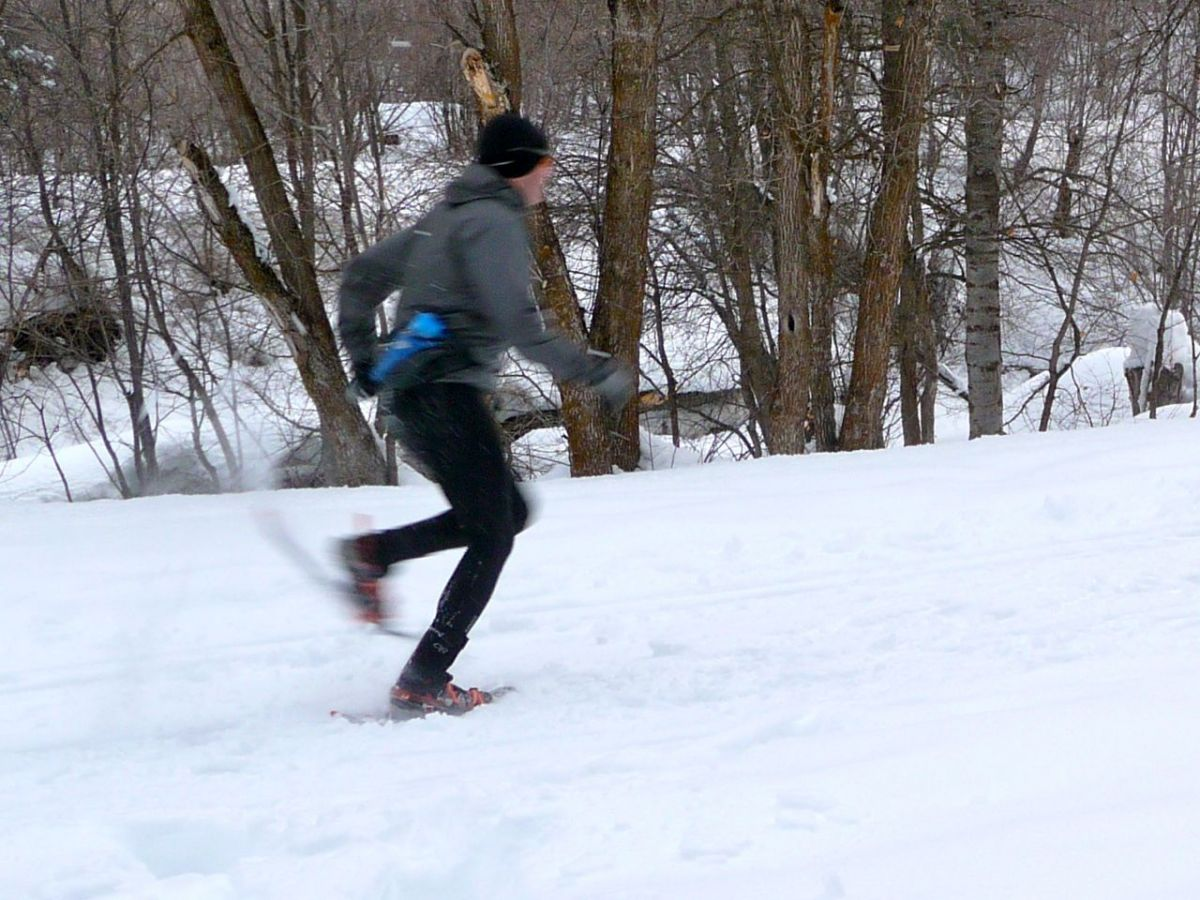 Snowshoe Running with the OR Flex-Tex Gaiters and Atlas Run Snowshoes