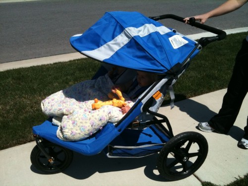 Kelty Speedster Swivel Double Jogging Stroller Review