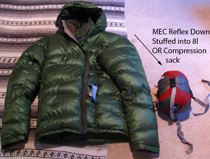 mec how to clean down jacket