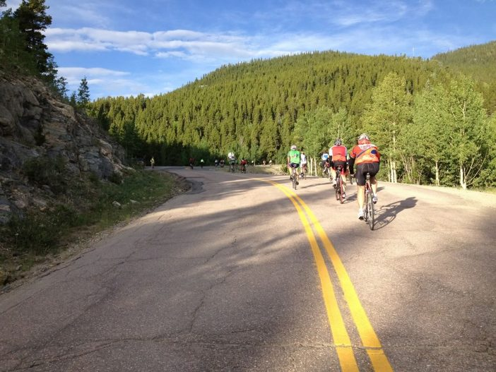 Going Up Juniper Pass, CO - Triple Bypass Ride