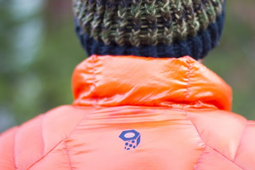 Attention to detail: Mountain Hardwear's logo laminated onto a nut-shaped baffle