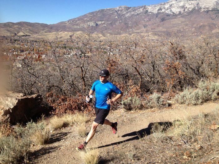 Jason Enjoying the Vasque Pendulum's on a Trail Run