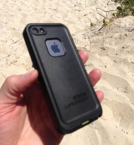 The backside of the LifeProof fre case