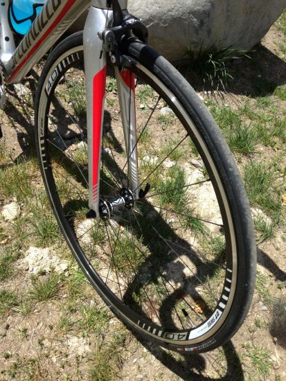 DT Swiss Axis 4.0 Wheelset on the Tarmac SL4 Expert