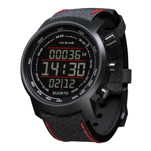 Suunto Elementum Terra Watch Black/Red Leather