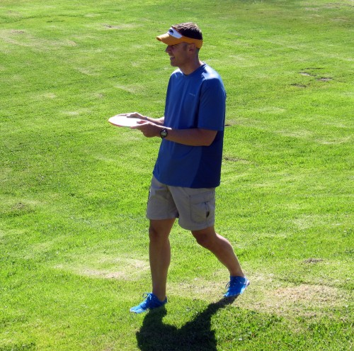 Vibram disc golf action