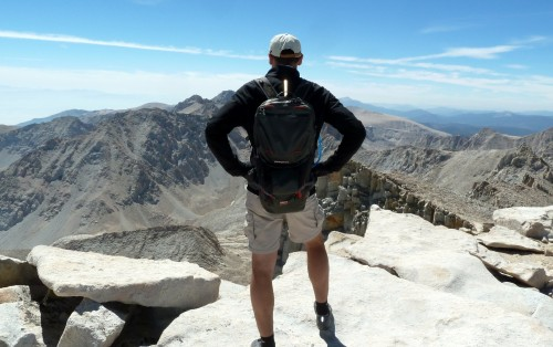 At the top of Mt Whitney, CA