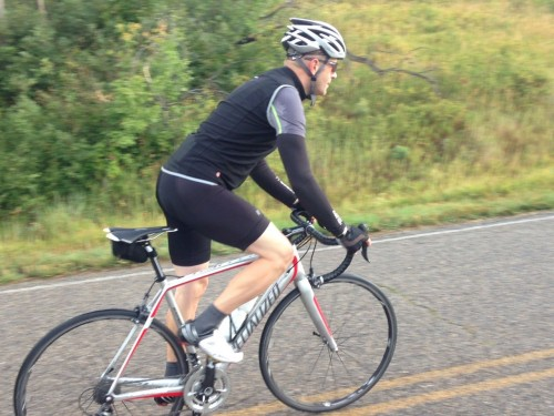 Castelli NanoFlex Arm Warmers & Fawesome Vest in the Rain