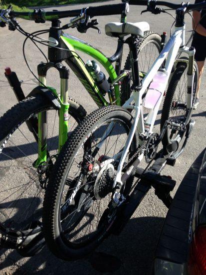 Yakima HoldUp Rack - Two bikes loaded up