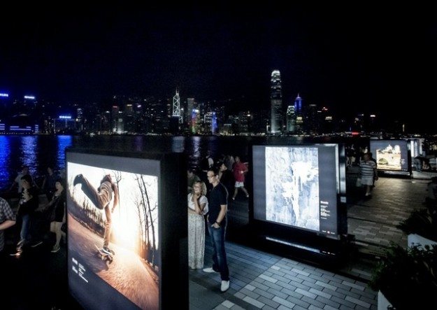 Red Bull Illume Display in Hong Kong