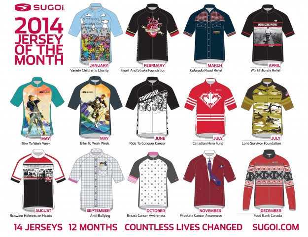 2014 Sugoi Jersey of the Month for Charities