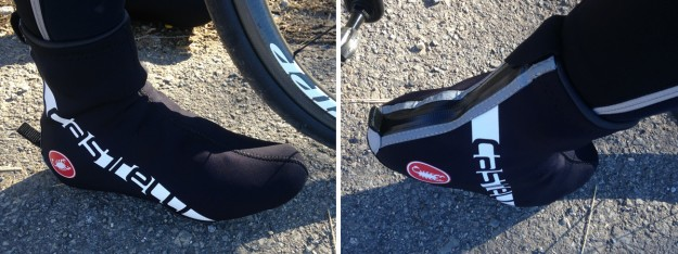 Castelli Diluvio All-Road Shoe Cover - Side and Back Views