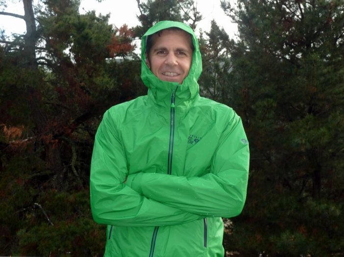 mountain hardwear super light plasmic jacket green