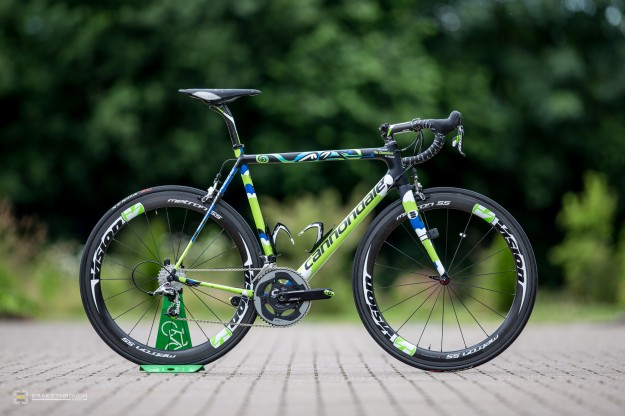 Alessandro de Marchi's Custom-painted Cannondale SuperSix Hi-Mod EVO for 2014 Tour de France