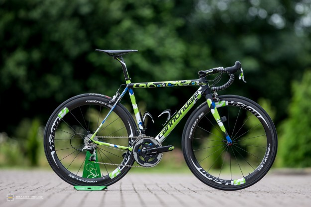Elia Viviani's Custom-painted Cannondale SuperSix Hi-Mod EVO for 2014 Tour de France