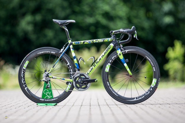Jean-Marc Marino's Custom-painted Cannondale SuperSix Hi-Mod EVO for 2014 Tour de France
