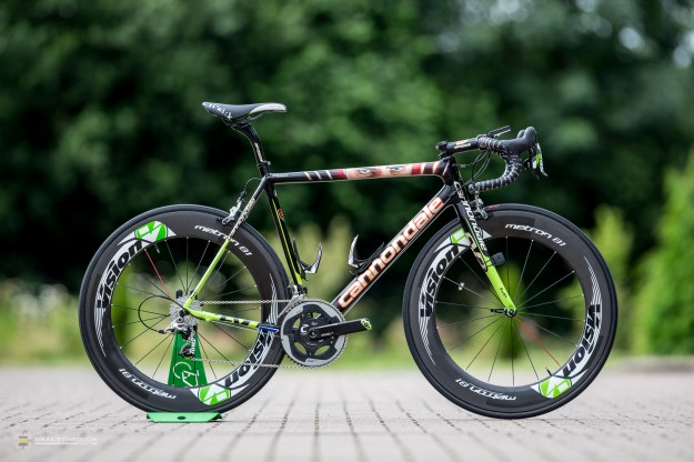 Peter Sagan's Custom-painted Cannondale SuperSix Hi-Mod EVO for 2014 Tour de France