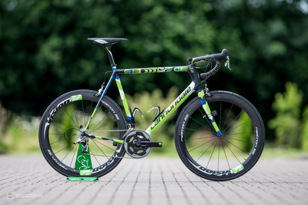 Ted King's Custom-painted Cannondale SuperSix Hi-Mod EVO for 2014 Tour de France