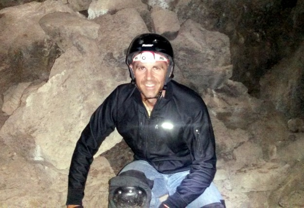 "Inside ""The Catacombs"" at Lava Beds National Monument"