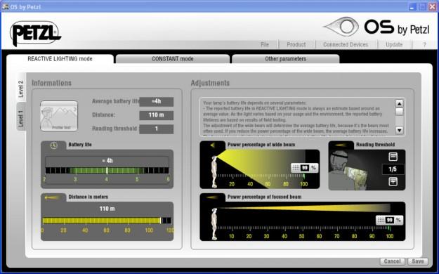 Petzl OS webpage