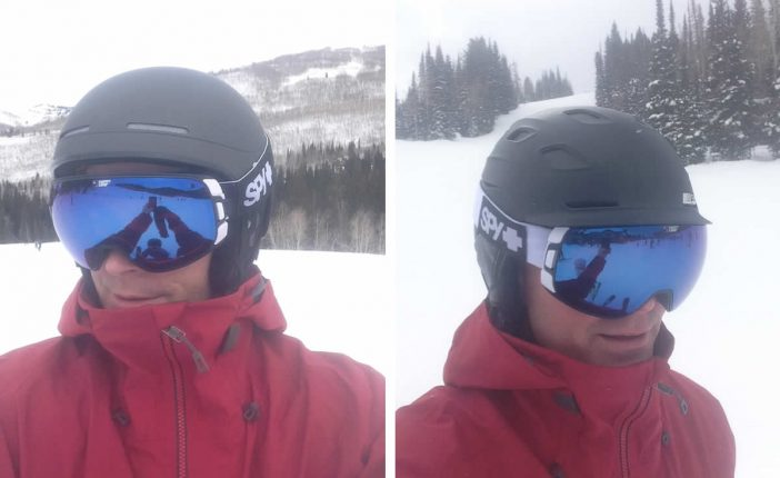 Spy Bravo Goggles - Testing Helmet Fit