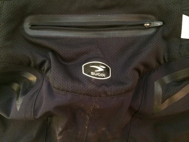 Rear welded zipper