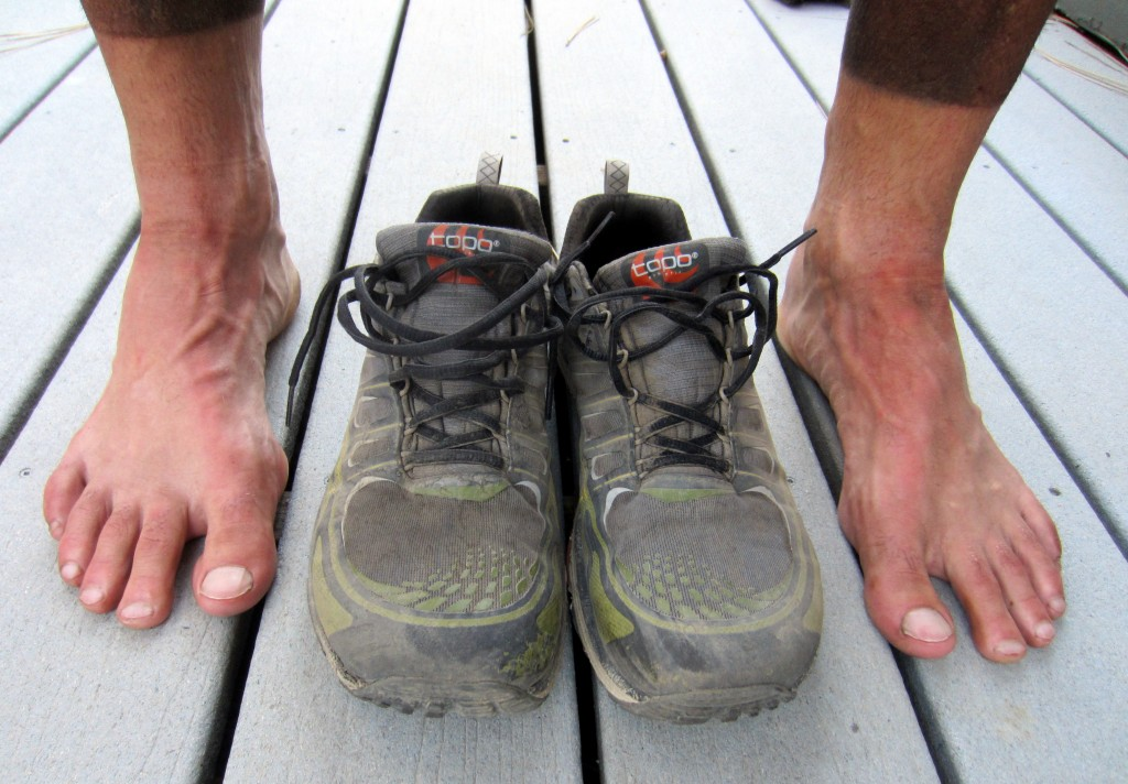 After the race: no blisters or hot spots at all.