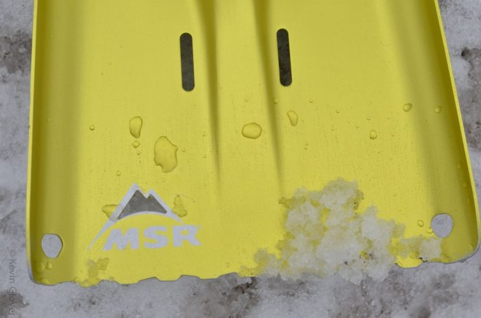 MSR Responder Snow Shovel - Blade close-up