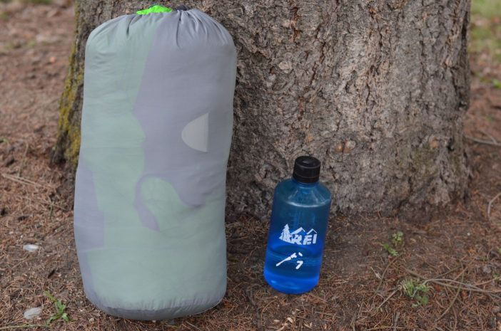 As far as compression, it's like most synthetic bags - bulky.