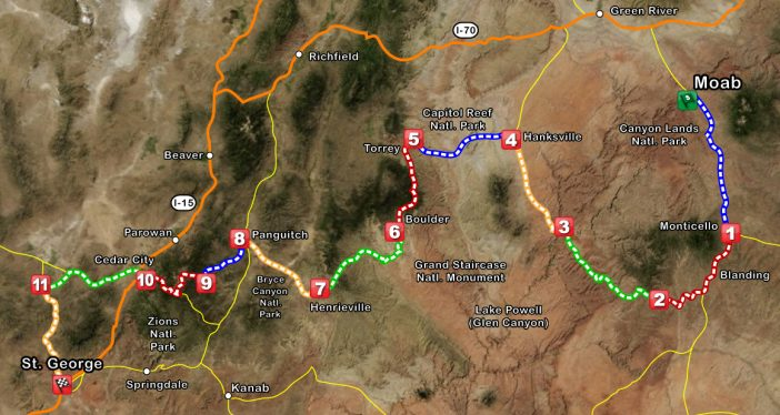 The Rockwell Relay covers 525 beautiful miles in Southern Utah.