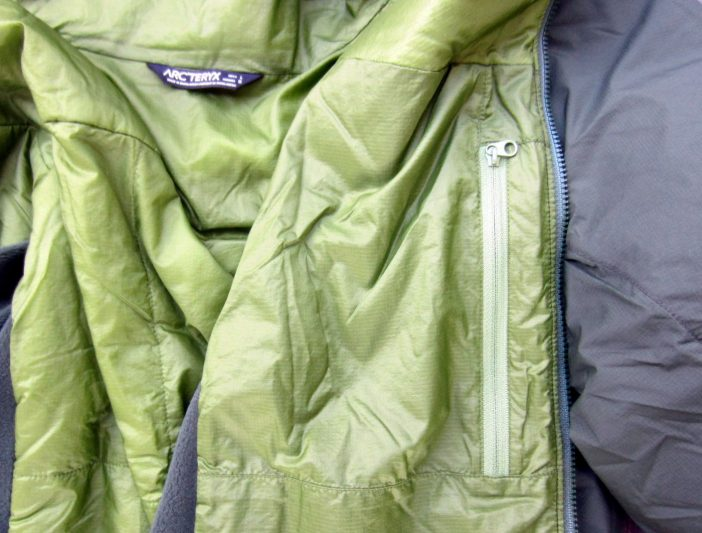 arcteryx atom lt interior pocket