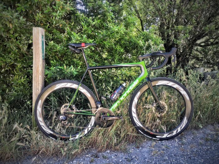 Ted King's Cannondale SuperSix EVO Disc with SRAM RED eTap HydroR.
