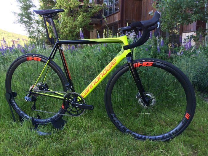 The 2017 Cannondale SuperSix EVO Hi-Mod Disc Ultegra Di2