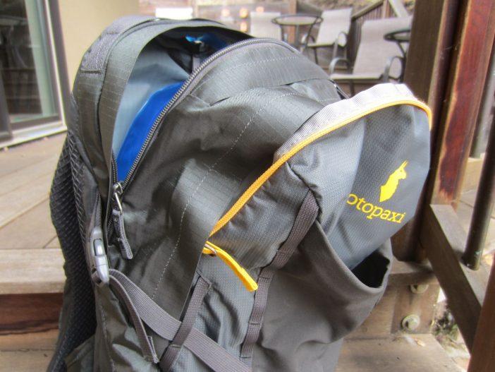 Yellow zipper designates primary cargo compartment