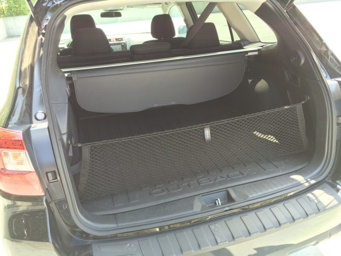 The rear cargo area can haul a good amount of gear.