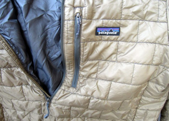 Post-consumer content in zipper and logo patch