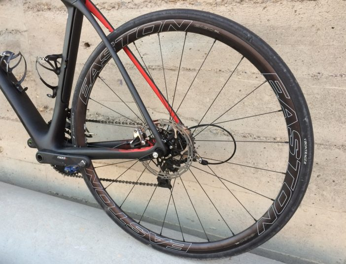 The EA90 SL Disc wheelset proved to be quite comfortable.