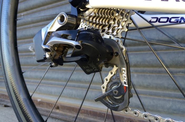 The rear derailleur shifts in a jiffy, but does max out at 11-28t.
