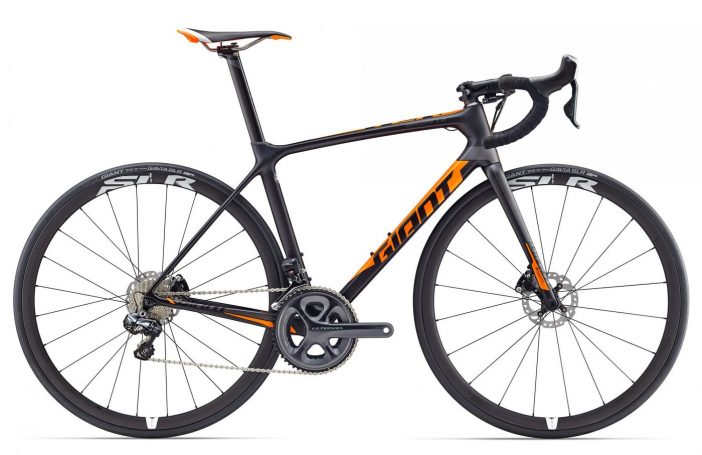 The 2017 Giant TCR Advanced Pro Disc is fully-decked at $4700.