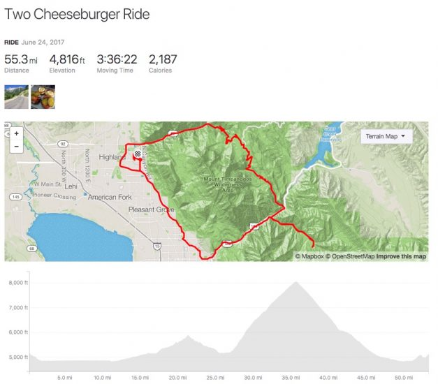 The two cheeseburger ride