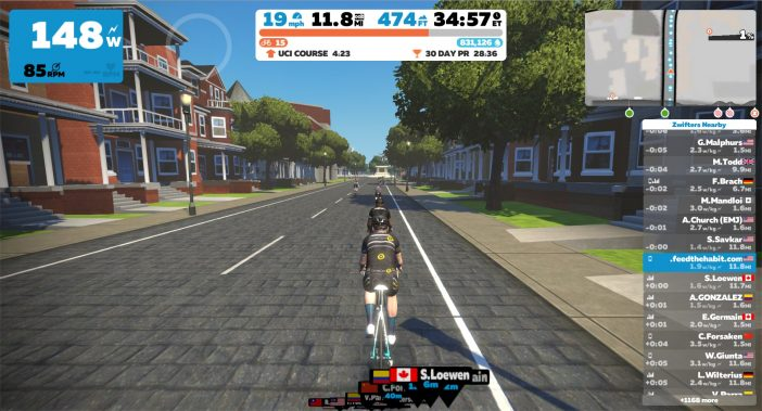 Zwift with CycleOps H2