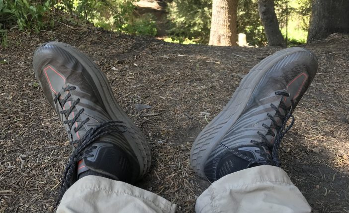 Hoka One One Speedgoat Mid GTX 2 Review - Mid-hike Break