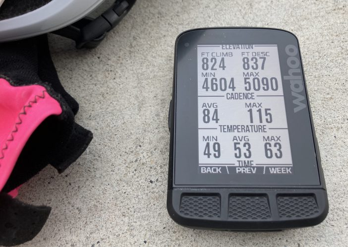 Wahoo ELEMNT ROAM Review - Workout Summary