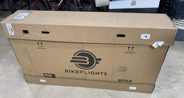 BikeFlights Large Shipping Box Review - Arrived at Trek HQ