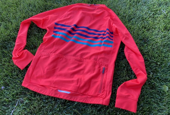 Bontrager Circuit Long Sleeve Jersey Review - Radioactive Red and Teal - Back Pockets
